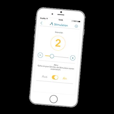 Bionic Bracing tilpasses altid individuelt, og styres let fra en app på din mobiltelefon